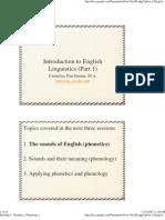 Introling 3 - Phonetics Phonology 1