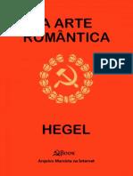 A Arte Romantica - Georg Wilhelm Friedrich Hegel.epub