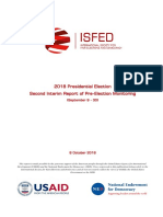 ISFED 2nd Pre-Election Interim Report - 2018 Presidential Election