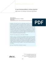 Subalternidad Pos-Decolonialidad y Cultu