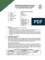 SILABO DE FUNDAMENTOS FISICOS DE LA MECANICA - INGENIERIA MECANICA.pdf
