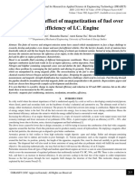 Reviewing the Effect of Magnetization of Fuel Over the Efficiency of IC Engine
