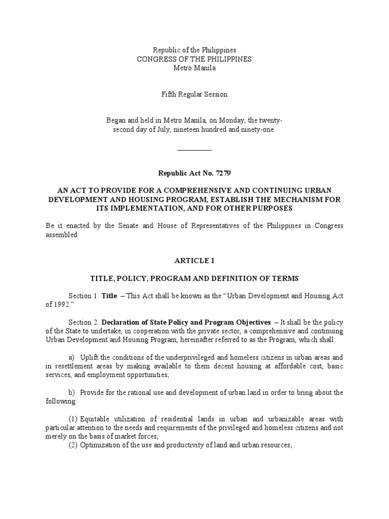 Socialized Housing Program in the Philippines - Cebu REI