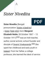 Sister Nivedita -