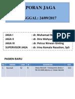 Laporan Jaga 24 September 2017 Ok