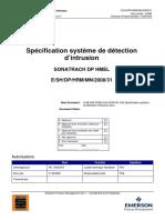 1033 AO88 AUX SCM 001 A02 Spécification Système de Détection d'Intrusion