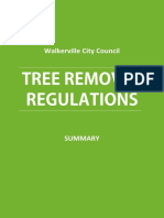 Tree Removal Walkerville Council Regulations - Summary[1]