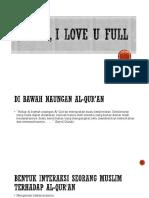 Qur'an, I Love u Full
