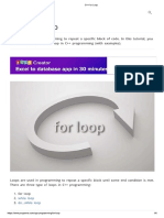 c++ for loop