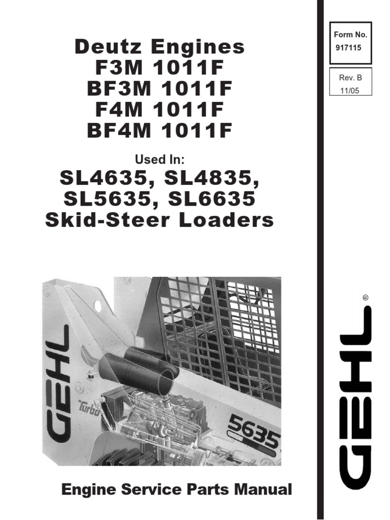 GHEL SL4635 SL4835 SL5635 SL6635 Skid Loader Deutz Engine