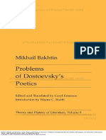 Theory and History of Literature Problems of Dostoevsky 146 s Poetics