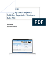 Developing Oracle BI (XML) Publisher Reports in E-Business Suite R12