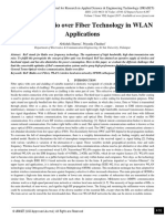 A Study of Radio over Fiber Technology in WLAN Applications