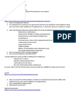 Types of Employment Contracts worksheet