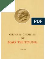 Œuvres choisies de Mao-Tsé-Toung (tome 3)