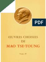 Œuvres choisies de Mao-Tsé-Toung (tome 4)