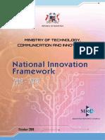 Mauritius National Innovation Framework 2018-2030