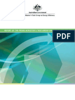 Report on Prime Minister Task Group Energy Efficiency