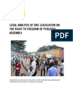 DRC Legislation on the Right to Freedom of Peaceful Assembly
