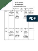 MBA(E) Time Table 1st Sem 2018