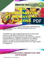 Ang Globalisasyon at Ang Mga Isyu Sa Paggawa