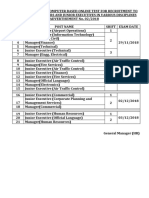 AAI Exam Date 2018