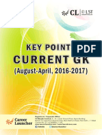 Key Points Current GK (August-April-2016-17)