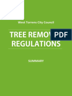 Tree Removal West Torrens Council Regulations - Summary