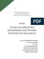 Celdas de Combustible Microbianas