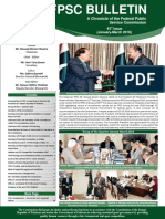 FPSC Bulletin 43rd Issue January-March-2018