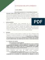 Modelo de demanda de Nulidad de Acto Jurídico