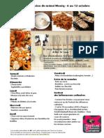 Menu de La Cuisine de Meme Moniq 6 Au 12 Octobre