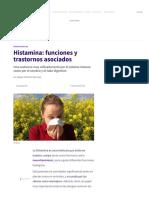 Histamina_ funciones y trastornos asociados