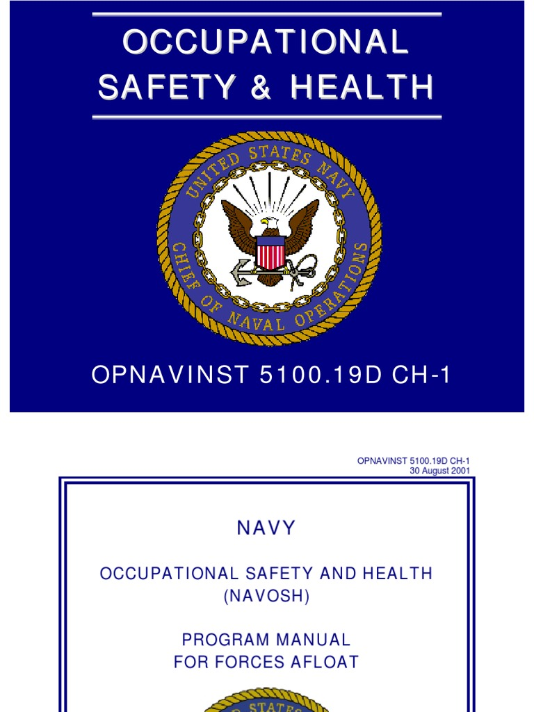 Opnavinst 5100.19 Navy Occupational Safety And Health