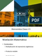 Clase n°5 Niv. Matemática producto notable y factorización