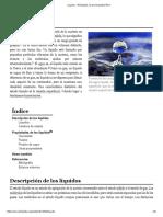 Líquido - Wikipedia, La Enciclopedia Libre