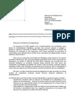 Lettre du Collectif GCO Non Merci Strasbourg au Président de la République