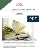 AED Hermenêutica Crítica