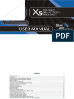 X5 Stereo Headset Manual