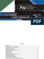 X5 Stereo Headset Manual