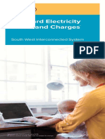 Standard Electricity Prices Charges Brochure