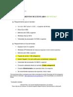 Requerimientos Para Multiusuario 1617
