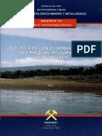 Geología - Cuadrangulo de Río Pinquén %2825t%29%2C Pillcopata %2826t%29 y Chontachaca %2827t%29%2C1998