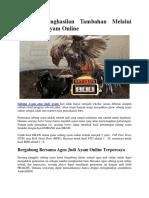 Mencari Penghasilan Tambahan Melalui Game Judi Ayam Online