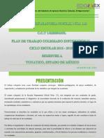 Plan de Trabajo Colegiado Institucional Semestre A 2018-2019