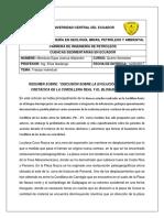 Resumen Ejecutivo(Cordillera Real y El Bloque Amotape)