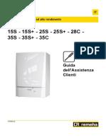 Manuale Assistenza Clienti Calenta 15s-35c