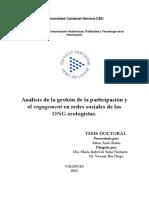 Tarín Rubio, Alicia_Tesis_Análisis de La Gestión de La Participación y El Engagementen Redes Sociales de Las ONG Ecologistas