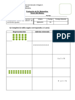 Evaluacion de Matemática Multiplicación