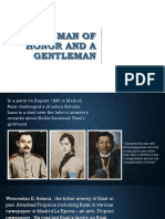 Rizal, Man of Honor and a Gentleman